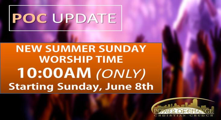 Summer Sunday Schedule