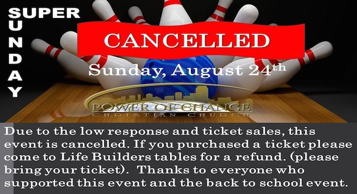 Super Sunday Cancelled