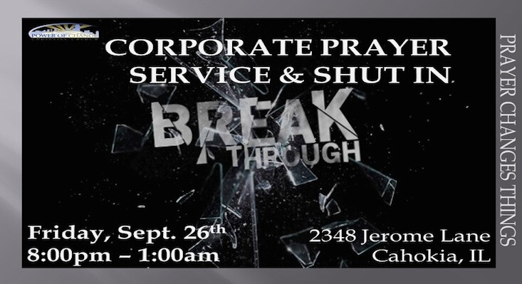 Corporate Prayer Service and Shut-In
