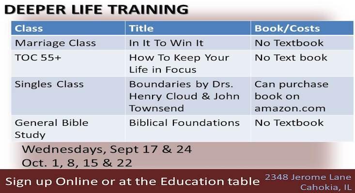 Deeper Life Fall Courses