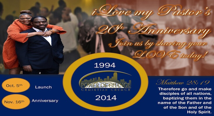 i Love My Pastors - 20th Anniversary Celebration